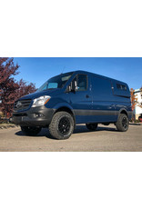 Black Rhino York 17x8  6/130 ET 38, MATTE BLACK, pour Mercedes Sprinter