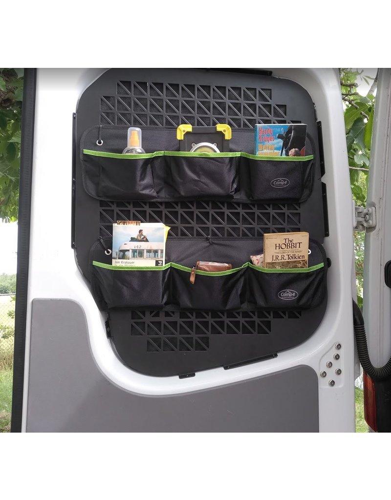 Scheibenschutzgitter / Fensterschutzgitter / Taschenhalterung für VW T5/6 Doppelhecktür