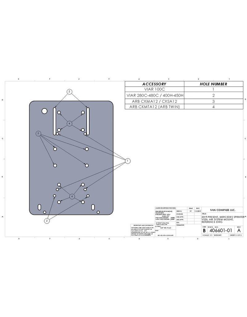 VAN COMPASS™ VS30 SPRINTER AIR SYSTEM MOUNT