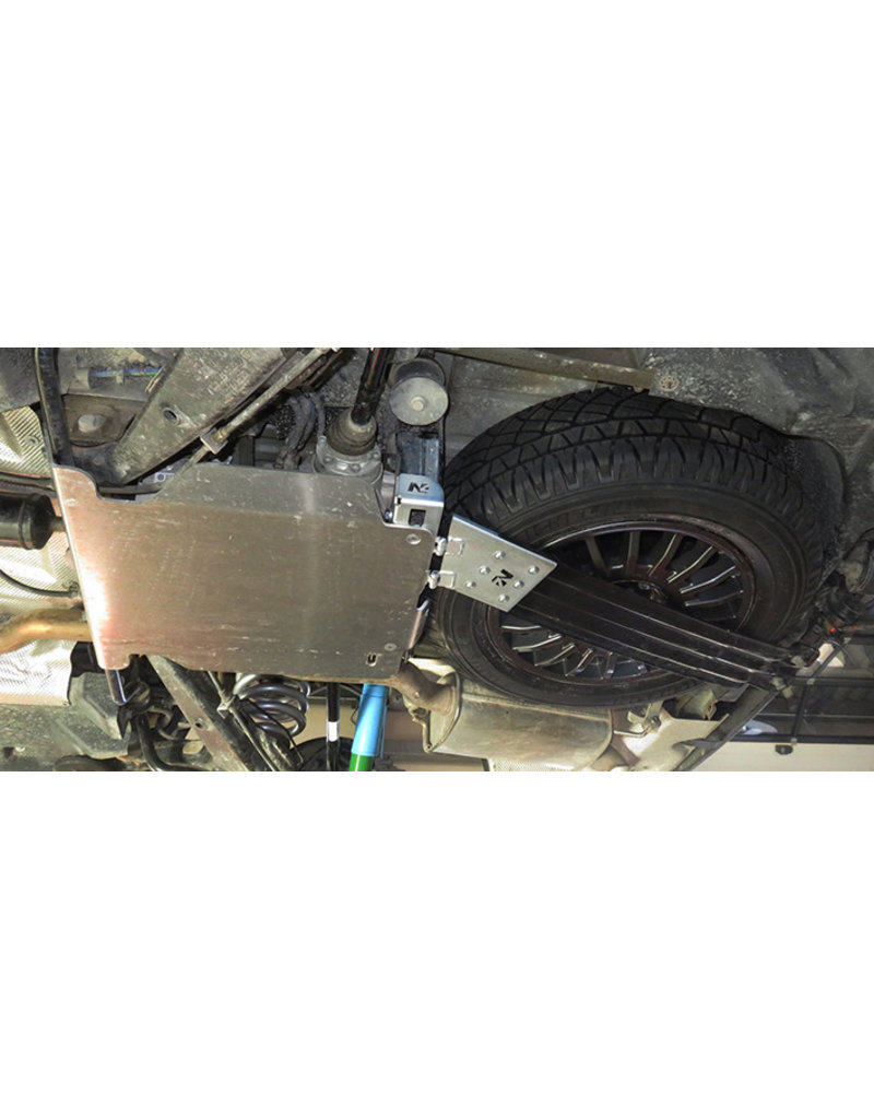 N4 spare wheel holder for oversize off-road tyres to fit on the original position