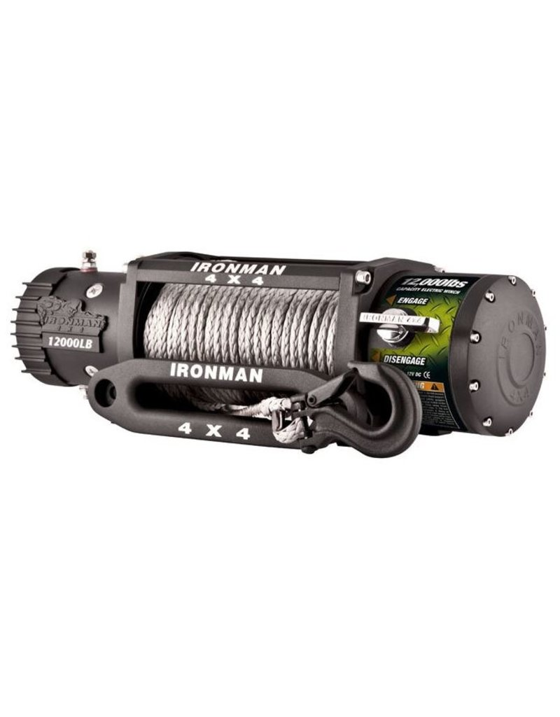 IRONMAN4x4 IRONMAN4x4 12,000LBS MONSTER WINCH WITH SYNTHETIC ROPE