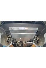 VW CRAFTER / MAN TGE 4X4 2019+  6 mm Aluminium Ski de protection avant  pour moteur, radiateur, différentiel avant et boîtier de direction