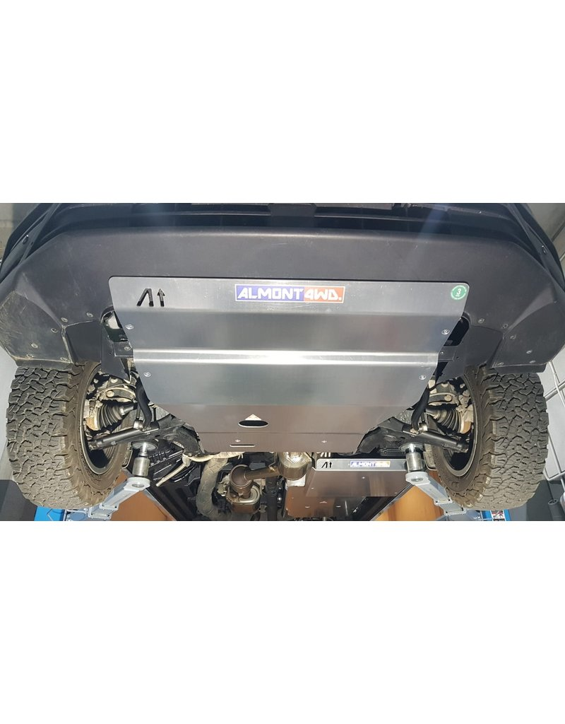VW CRAFTER / MAN TGE 4X4 2019+  6 mm alu skidplate for engine, radiator, front differential and steering gear.