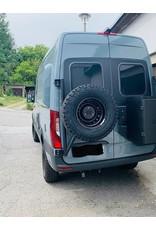 MAN TGE/ VW Crafter II (2017+) spare wheel carrier on left door (180°door)