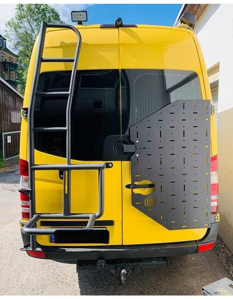 Mercedes Sprinter 906 -  OVE Backpacker - universal carrier system on right back door (180°door)