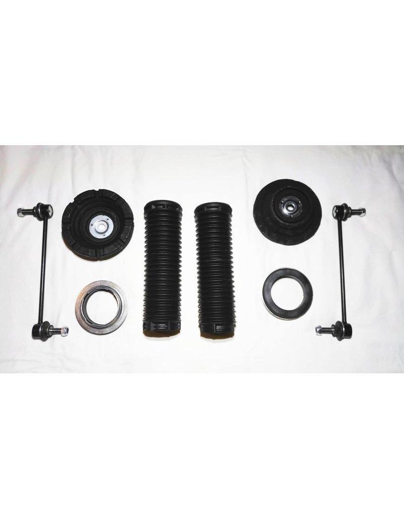 Kit de réparation et d'accessoires pour kit de rehausse ou pour un remplacement des amortisseurs et / ou des ressorts pour l'essieu avant et / ou l'essieu arrière pour  VW T 5/6
