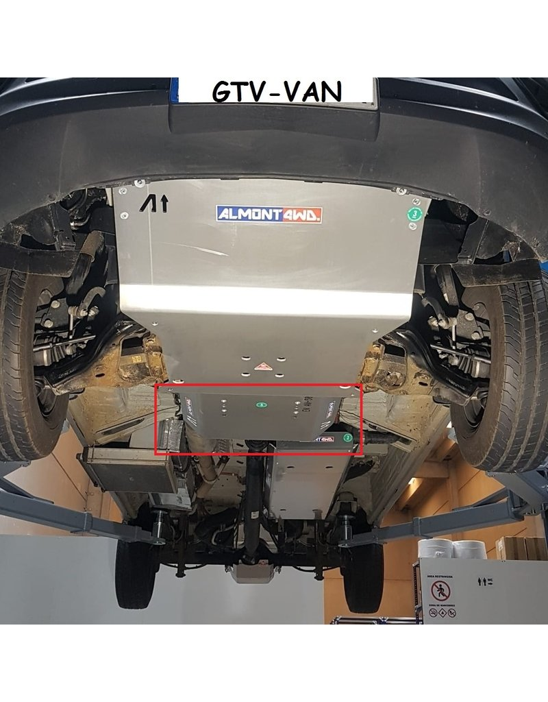 Mercedes Sprinter 906 4x4 Ski de protection transmission et boite de transfert alu 8mm