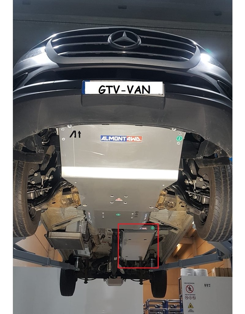Mercedes Sprinter 907 Unterfahrschutz Tank Alu 6 mm