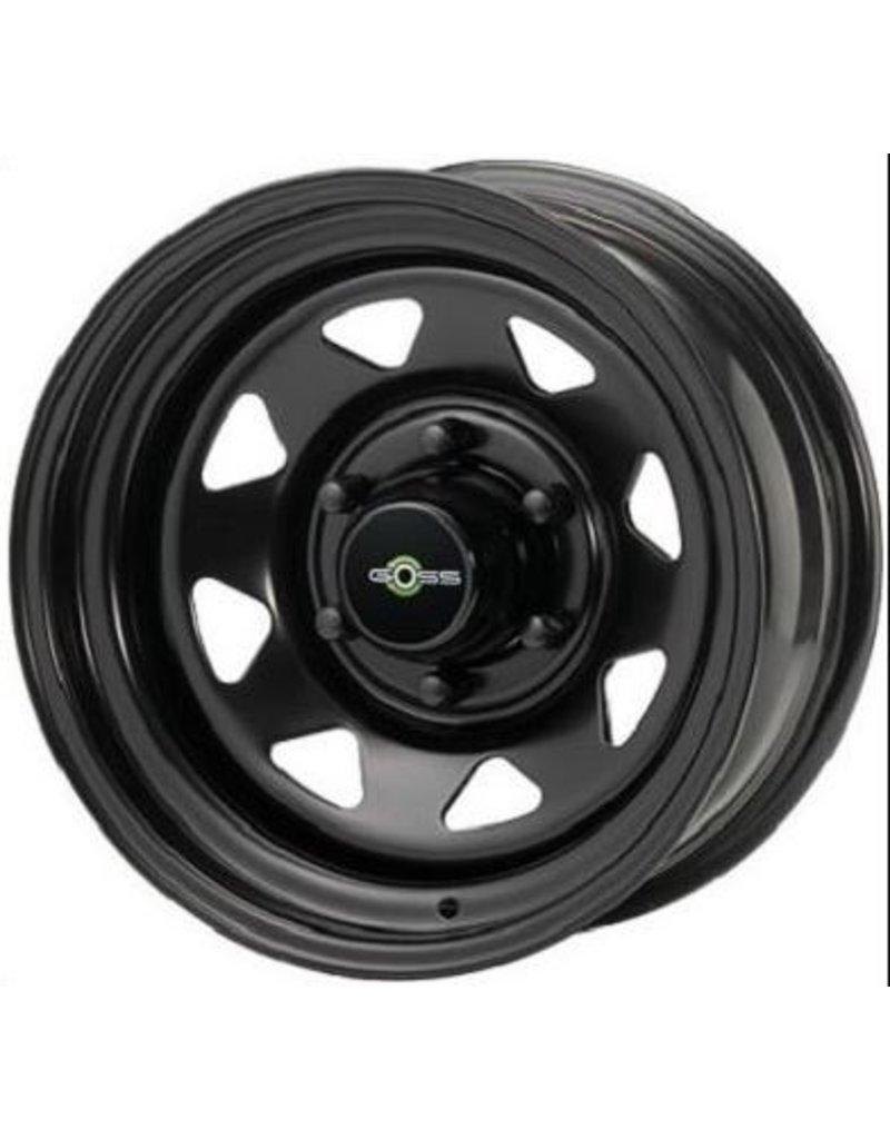 GOSS Triangular II Black Stahlfelge für VW T5/6 und Amarok (außer V6) 7x16  5/120 ET 28 CB65.1