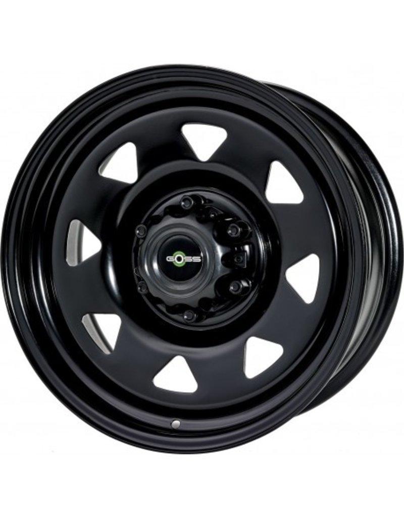 GOSS Triangular II Black steel rim for VW T5/6 and Amarok (except V6) 7x17  5/120 ET 25 CB65.1