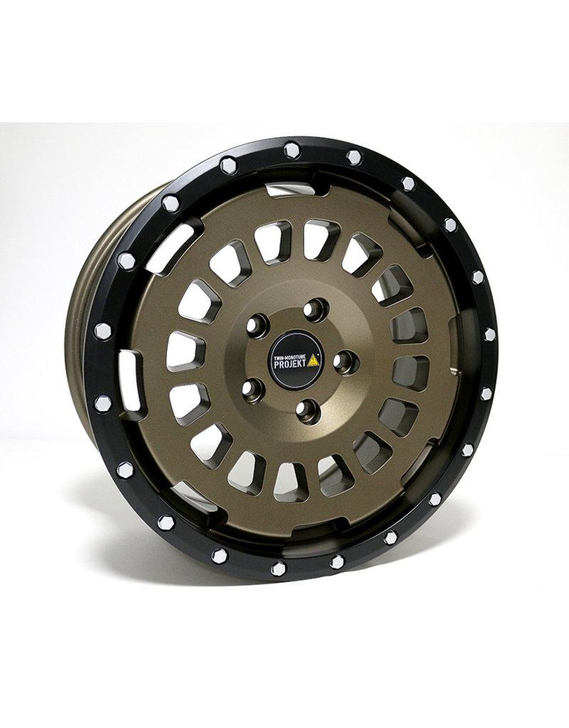TWIN-MONOTUBE-PROJEKT-AT aluminum rim 8X17 MATT EARTH, CONCAVEFOR VW T5, T6, T6.1, AMAROK / ET40 (T6.1 = ET37 incl. 3mm plates), 5x120 / 65