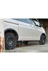 TWIN-MONOTUBE-PROJEKT-AT aluminum rim 8X17 MATT GRANIT, CONCAVEFOR VW T5, T6, T6.1, AMAROK / ET40 (T6.1 = ET37 incl. 3mm plates), 5x120 / 65