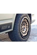 Jante aluminium TWIN-MONOTUBE-PROJEKT-AT 8X17 EARTH MAT, CONCAVE POUR VW T5, T6, T6.1, AMAROK / ET40 (T6.1 = ET37 avec plaques de 3 mm), 5x120 / 65