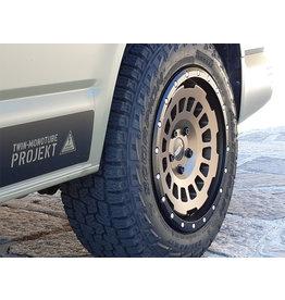 AT Alufelge  8X17 ZOLL IN SEIDENMATT EARTH, KONKAVFÜR VW T5, T6, T6.1, AMAROK / ET40 (T6.1 = ET37 inkl. 3mm Platten), 5x120/65