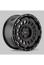 TWIN-MONOTUBE-PROJEKT-AT aluminum rim 8X17 MATT BLACK , CONCAVE FOR MB 447 / ET40