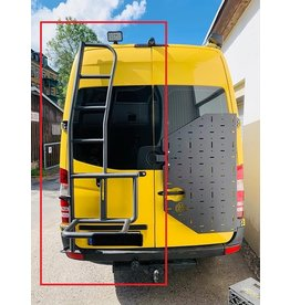 OVE spare wheel ladder Mercedes Sprinter 906 for 180 ° doors