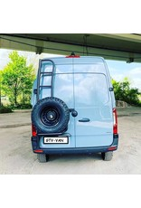 OVE spare wheel holder with ladder FORD Transit 2014+ for 180 ° doors and high roof