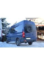 VW Crafter I / Sprinter 906 spare wheel carrier on left door (180°door)