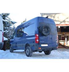 VVW Crafter I / Sprinter 906 - Porte roue sur porte arrière gauche ou droite (porte à 180°)