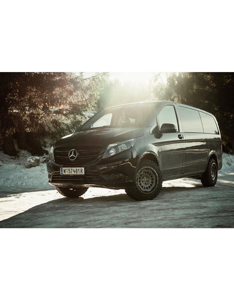TWIN-MONOTUBE-PROJEKT Bilstein Hinterachs Stoßdämpfer in Sonderlänge für Mercedes 447 (4Matic & 2WD)