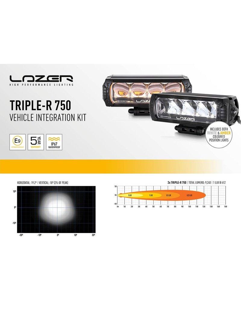 LAZER LED Fernlicht Einbausatz für VW CRAFTER