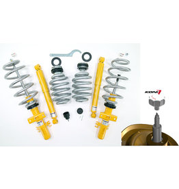 10-45mm ADJUSTABLE COIL-OVER BODY LIFT / SUSPENSION KIT complete VW T5, T6 AND T6.1 WITHOUT DCC