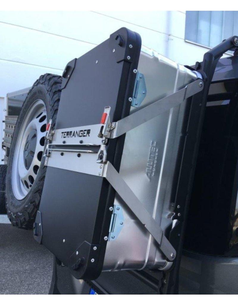 Alubox-Haltemodul, für modulares Heckträgersystem am VW T5/T6 , MB Vito oder andere