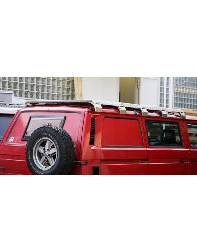 GTV-GMB VW T3 modulares Dachgepäckträgersystem komplett für DOKA (2 Module) - Alu schwarz gepulvert oder Alu Natur