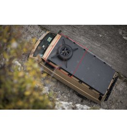 VW T3 galerie de toit modulaire pour DOKA=double cabine (2 modules) - kit complet Aluminium recouvert de poudre noire ou en alu nu