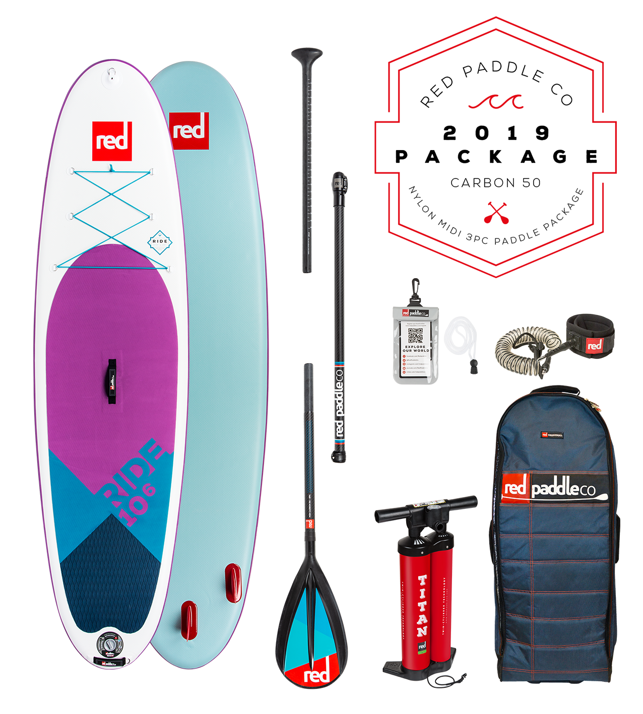Red Paddle Co Red - Ride 10'6 SE - SUP Package