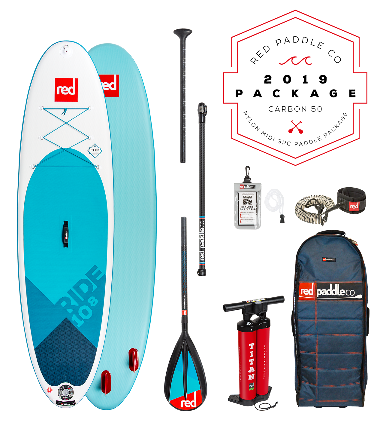Red Paddle Co Red - Ride 10'8 - SUP Package