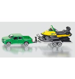 Siku Siku 2548 - Auto met aanhanger en sneeuwscooter 1:50