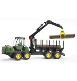 Bruder Bruder 2133 - John Deere 1210E houttransport met kraan
