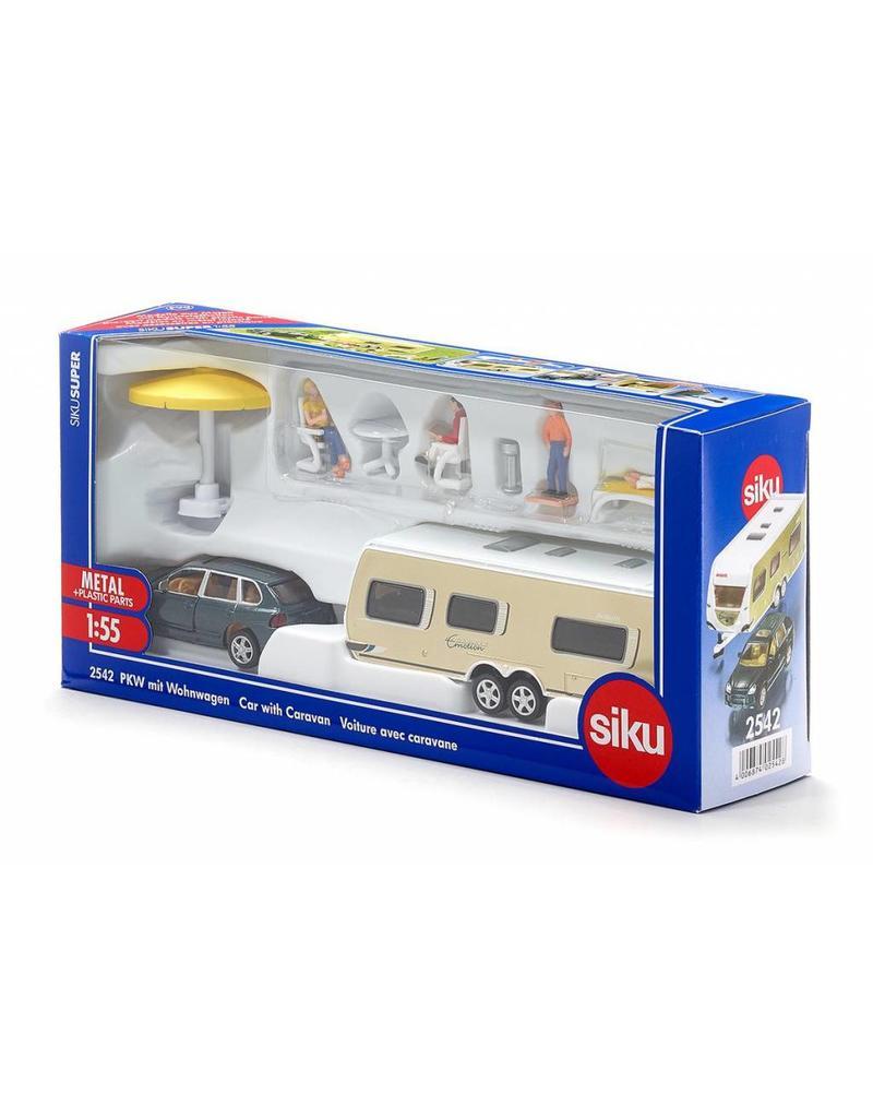Siku Siku 2542 - Porsche Cayenne met caravan 1:55