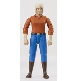 Bruder Bruder 60401 - Speelfiguur vrouw - blond haar