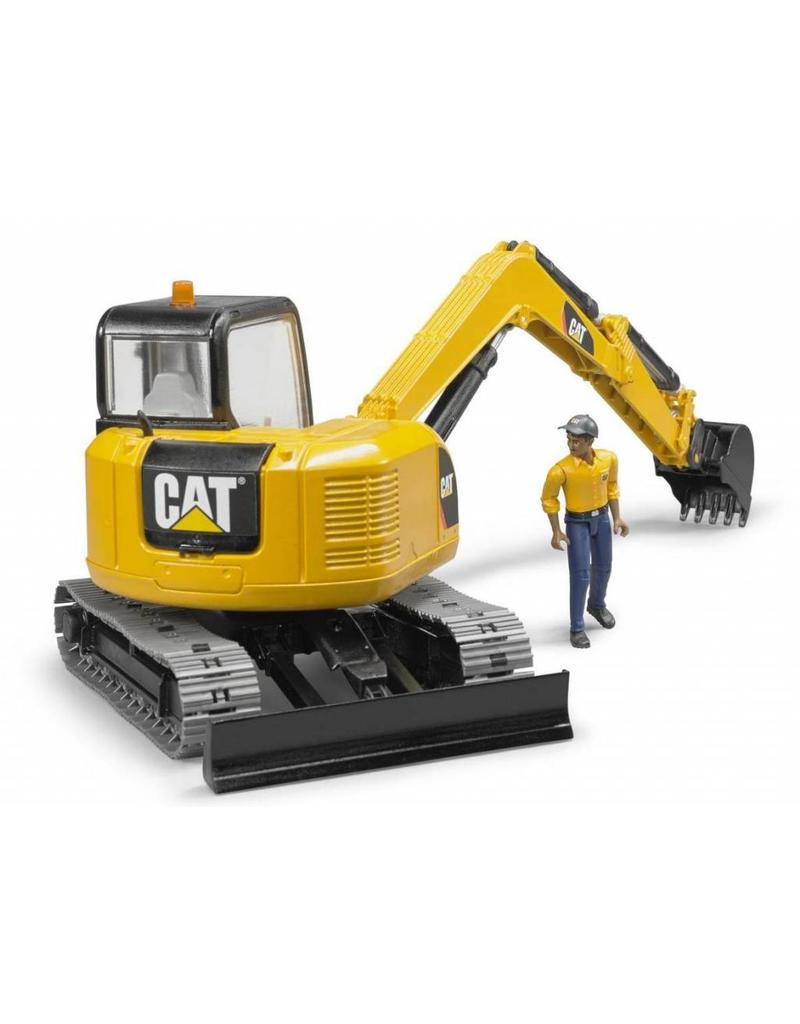 Bruder Bruder 2466 - Cat Minibagger met speelfiguur