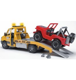 Bruder Bruder 2535 - Mercedes Benz Sprinter autotransporter met Jeep