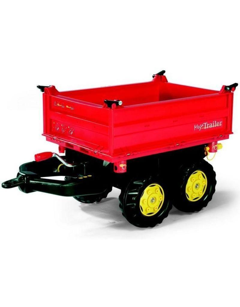 Rolly Toys Rolly Toys 123001 - Mega Trailer rood met gele velgen