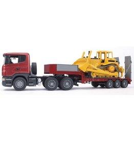 Bruder Bruder 3555 - Scania R-serie met dieplader en Caterpillar bulldozer