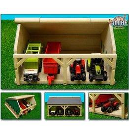 Kids Globe Kids Globe 610490 - Tractorloods voor 4 tractoren (1:87 / Siku)