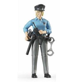Bruder Bruder 60430 - Speelfiguur politievrouw, blank met toebehoren