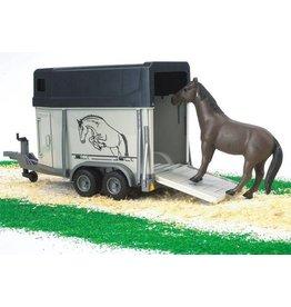 Bruder Bruder 2028 - Paardentrailer met paard