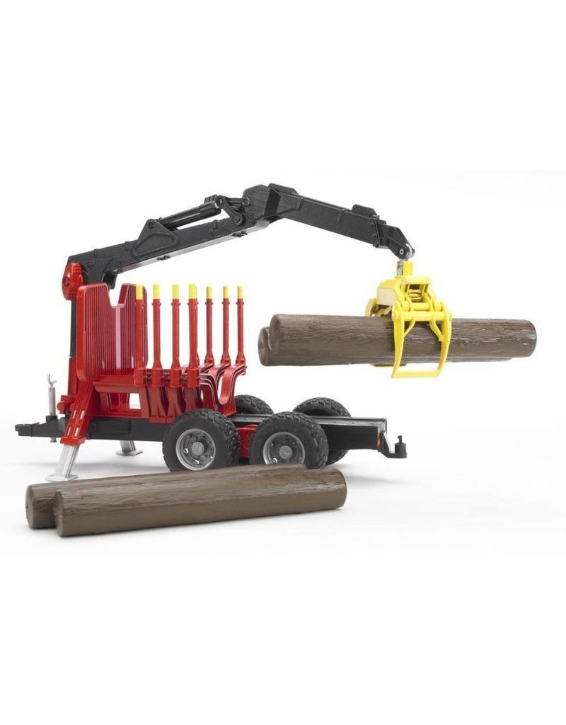 Bruder Bruder 2252 - Bosbouw bomenhanger met grijper incl. boomstammen