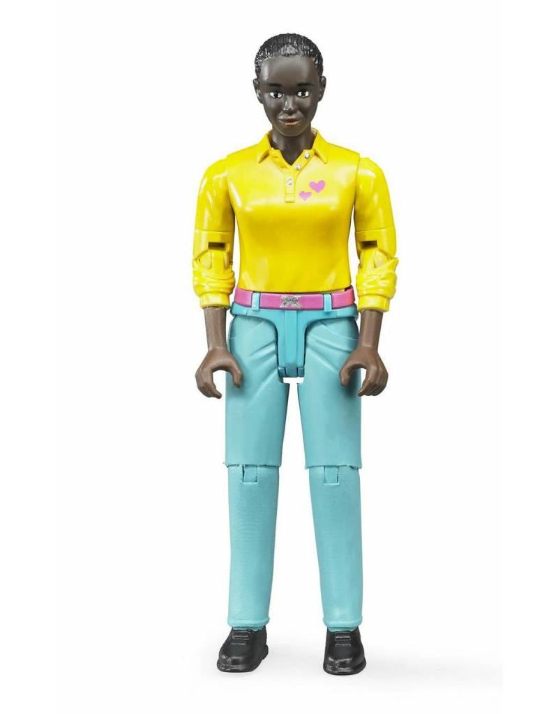 Bruder Bruder 60404 - Speelfiguur vrouw: donker, zwart, turquoise jeans