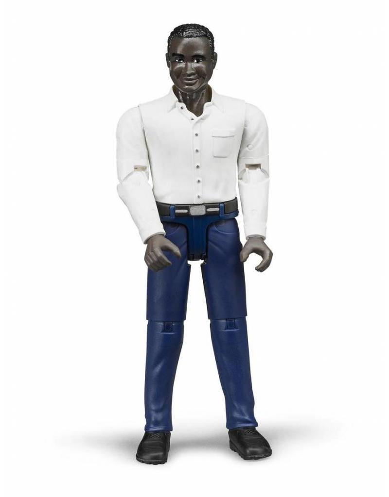 Bruder Bruder 60004 - Speelfiguur man: donker, zwart, donkerblauwe jeans
