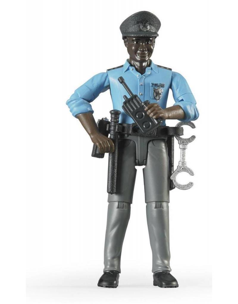 Bruder Bruder 60051 - Speelfiguur politieman, donker met toebehoren