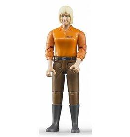 Bruder Bruder 60407 - Speelfiguur vrouw: blank, blond, bruine jeans