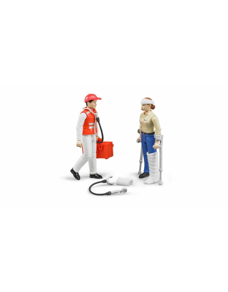Bruder Bruder 62710 - Figurenset: Ambulance broeder met patient en accessoires