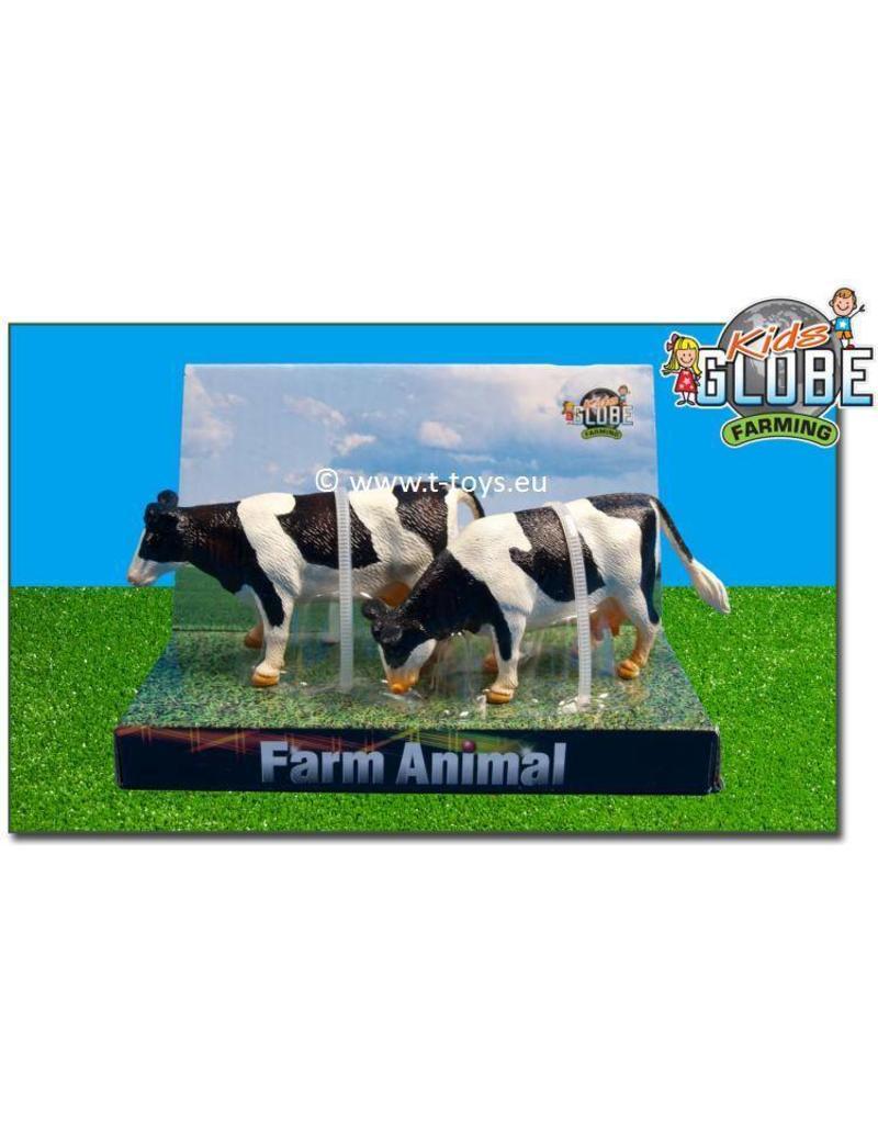 Kids Globe Kids Globe 571873 - Staande koeien zwartbont (1:32 / Siku)