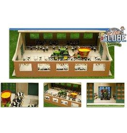 Kids Globe Kids Globe 610693 - Luxe houten loopstal met ligboxen (1:32 / Siku)